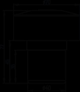 ขนาดของวาล์วเติมอากาศ DURGO AAVs รุ่น 40